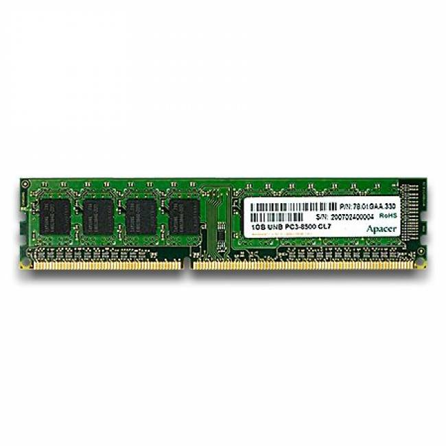 4GB DDR3 1333MHz (PC10600/1333 256x 8 CL9.0)