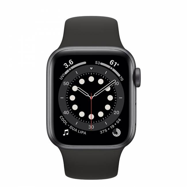 Watch Series 6 GPS 40mm Space Gray Aluminium Case with Black Sport Band
