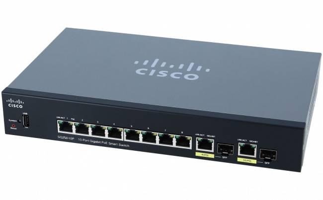 SG250-10P 8port GbE LAN 2x GbE SFP PoE Smart menedzselhető switch