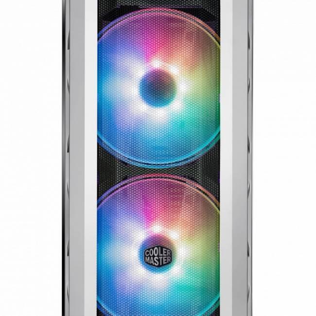 MasterCase H500P Mesh White ARGB White/Gun Metal Grey