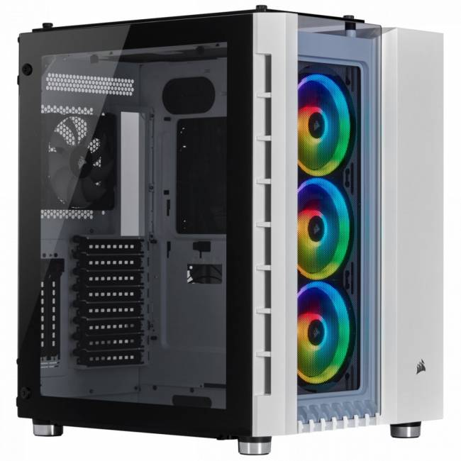 Crystal Series 680X RGB Tempered Glass White