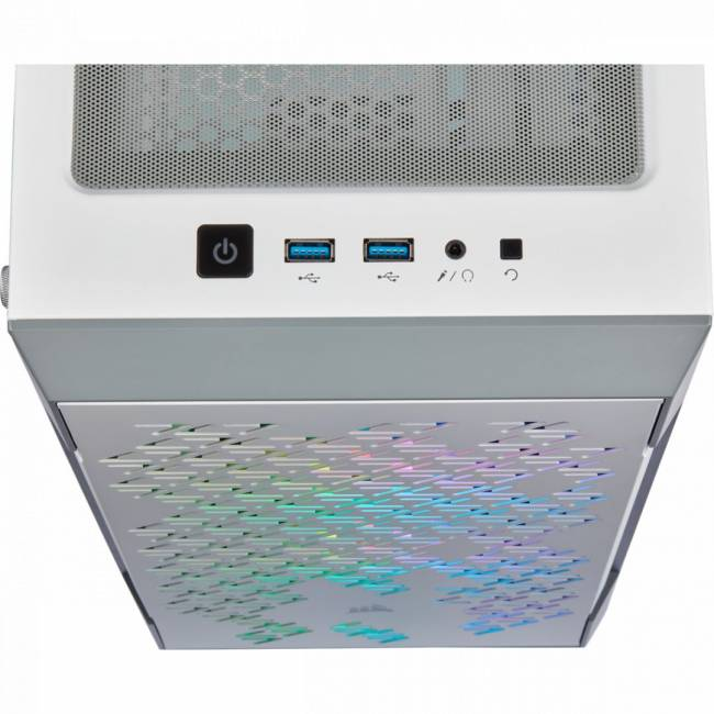 iCUE 220T RGB Airflow Tempered Glass White
