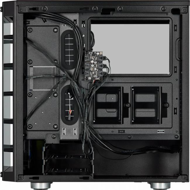 iCUE 465X RGB Tempered Glass Smart Black