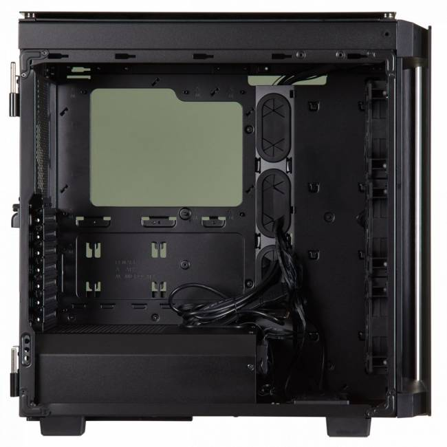 Obsidian Series 500D RGB SE Tempered Glass Black