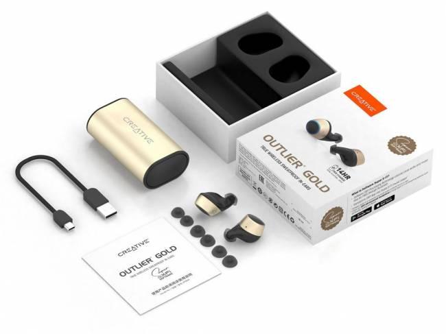 Outlier True Wireless SweatProof Bluetooth Headset Gold