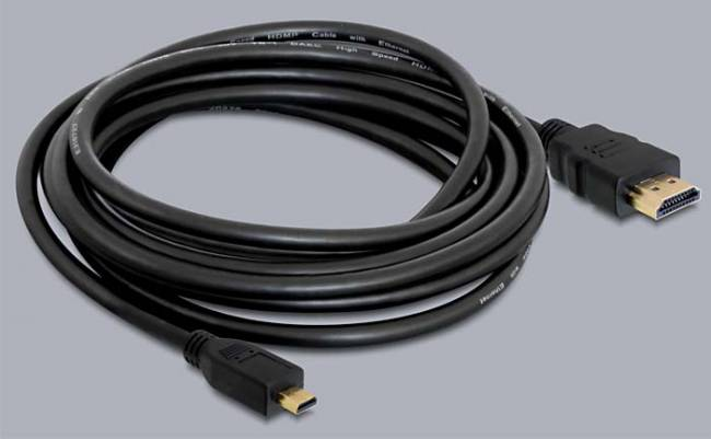 Cable High Speed HDMI with Ethernet A male > Micro-D male 2m