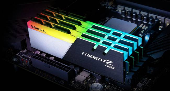 128GB DDR4 3200MHz Kit(4x32GB) TridentZ Neo (for AMD)