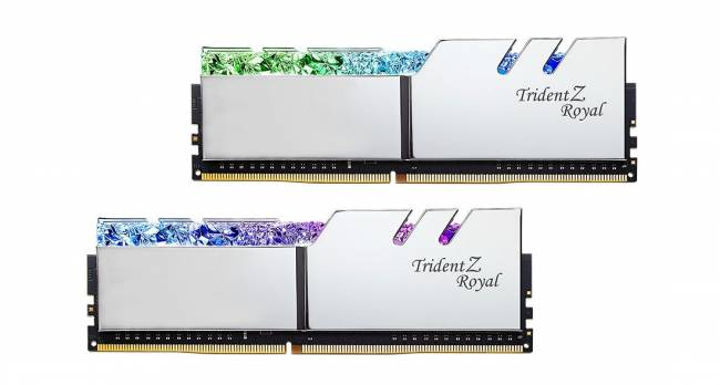 16GB DDR4 4800MHz Kit(2x8GB) TridentZ Royal Silver