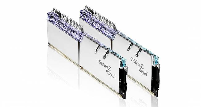 16GB DDR4 4800MHz Kit(2x8GB) TridentZ Royal Silver