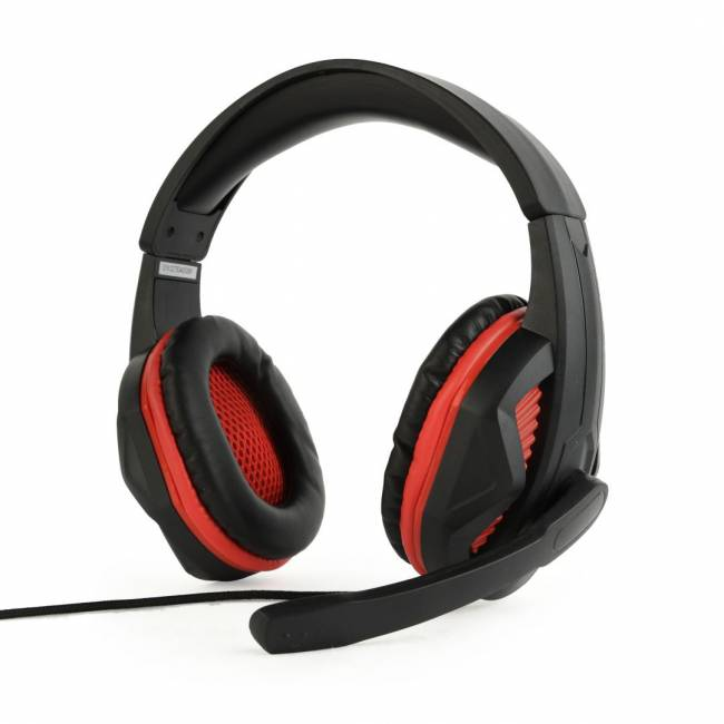 GHS-03 Gaming Headset Matte Black/Red