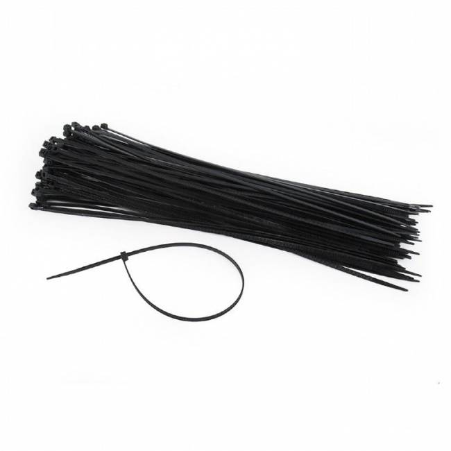 NYTFR-300x3.6 Nylon cable ties 300x3,6mm UV resistant bag of 100pcs