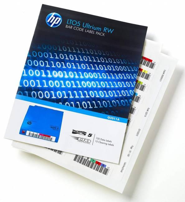 LTO-5 Ultrium RW Bar Code Label Pack