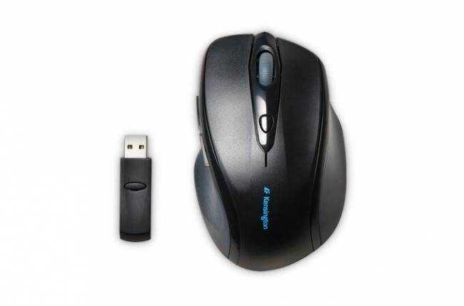 Pro Fit Full-Size Wireless Mouse Black