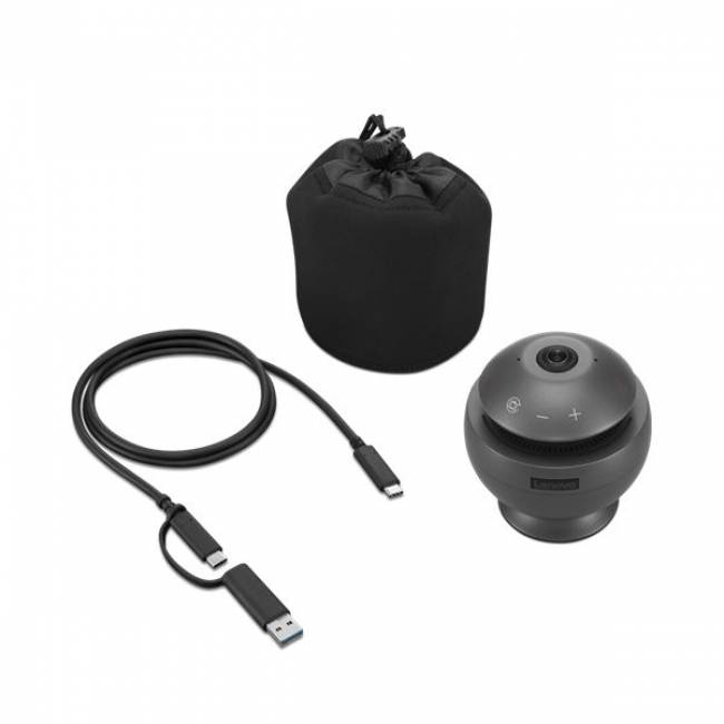 VoIP 360 Camera Speaker Gun Metal