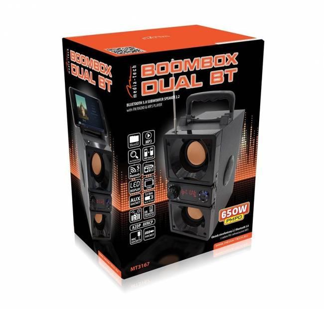 MT3167 BoomBox Dual BT Black