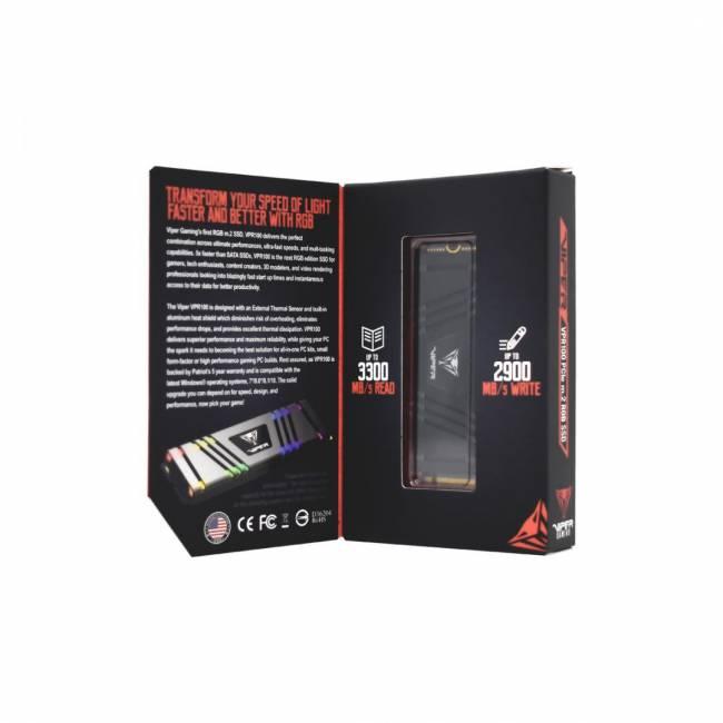 256GB M.2 2280 Viper Gaming RGB VPR100