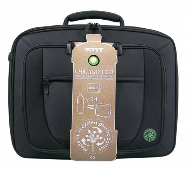 """CHICAGO ECO 14"""" Black notebook táska (újrafelhasznált palackokból)"""