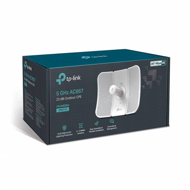 CPE710 5GHz AC 867Mbps 23dBi Outdoor CPE
