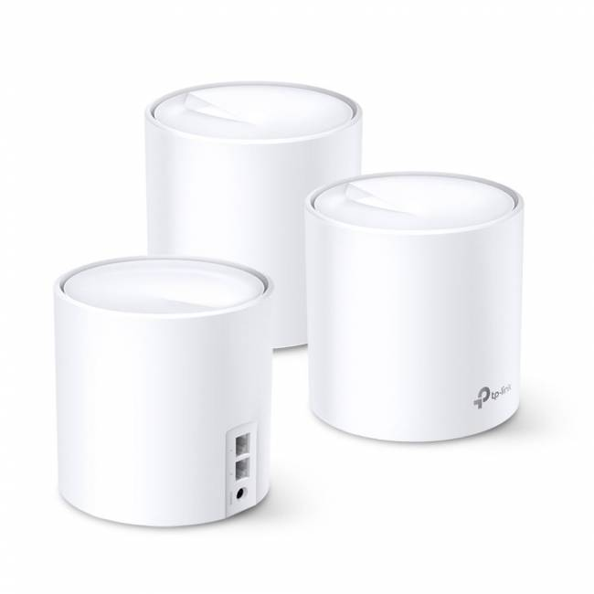 Deco X60 AX3000 Whole Home Mesh Wi-Fi 6 System (3-pack)
